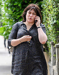 © Licensed to London News Pictures. 14/07/2016. London, UK. Sarah Vine, wife of former Justice Secretary Michael Gove, arriving at her home in west London after her husband was sacked as a government minister.  Photo credit: Ben Cawthra/LNP