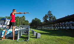 01.07.2015, Olympiapark, Berlin, GER, Moderner Fünfkampf WM, im Bild Patrick Dogue, Verein Potsdam // during Mens relay race of the the world championship of Modern Pentathlon at the Olympiapark in Berlin, Germany on 2015/07/01. EXPA Pictures © 2015, PhotoCredit: EXPA/ Eibner-Pressefoto/ Kleindl<br /> <br /> *****ATTENTION - OUT of GER*****