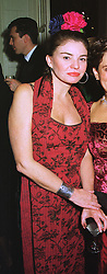 MRS CONSTANTINE NIARCHOS, daughter in law of the late billionaire Stavros Niarchos, at a ball in London on 6th November 1997.MDC 23 WOLO