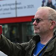 2021-09-15 London, UK. anti-Brexit protest in Parliament square.