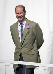 The Earl of Wessex watches his daughter Lady Louise Windsor leading the Champagne Laurent-Perrier Meet of the British Driving Society at the Royal Windsor Horse Show, which is held in the grounds of Windsor Castle in Berkshire.
