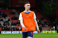 Dean Henderson of England U21's warming up before the U21 International match between England and Germany at the Vitality Stadium, Bournemouth, England on 26 March 2019.