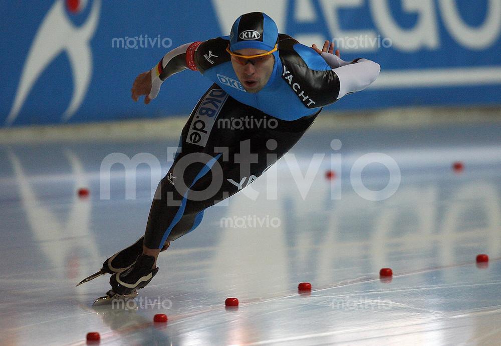 Erfurt , 180207 , Eisschnelllauf Weltcup , 1500m Maenner  Samuel SCHWARZ (GER)