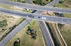 JOHANNESBURG, April 12, 2020  Aerial photo taken on April 11, 2020 shows empty roads amid the COVID-19 pandemic in Johannesburg, South Africa. (Photo by ShiraazXinhua) (Credit Image: © Xinhua via ZUMA Wire)