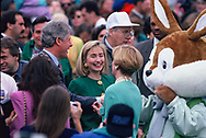 Washington, DC 1993/04/01 President William Jefferson Clinton and First Lady at the White House Easter egg roll.<br /><br />Photograph by Dennis Brack