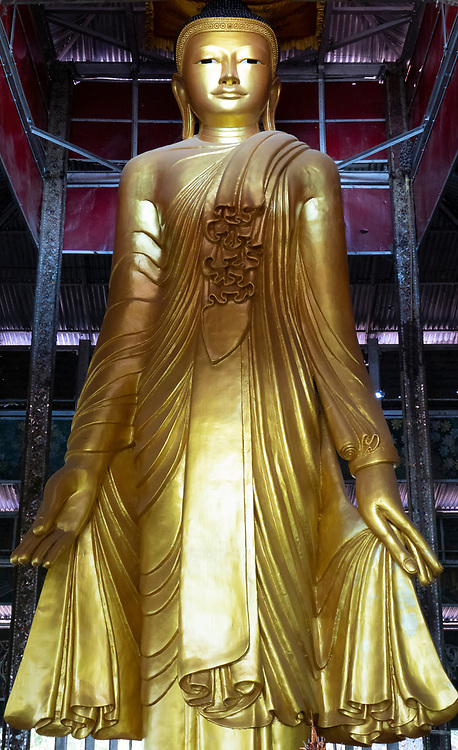 One of the statues in the Kyauktawgyi Pagoda, Kyaukse District, Mandalay