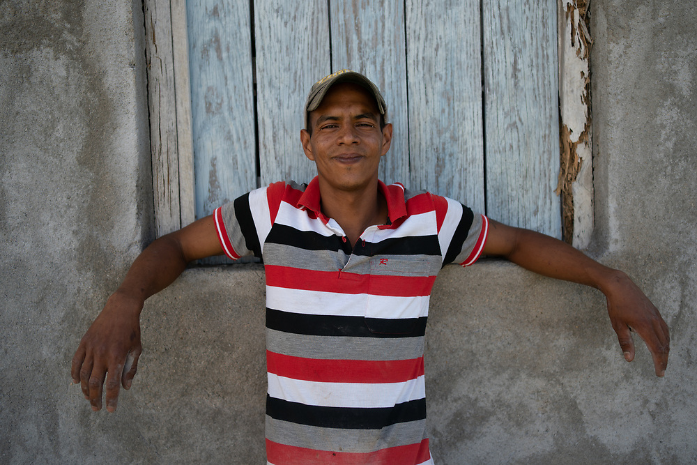 Arlin Danery Díaz Cruz, concrete block fabricator, El Guante, Honduras. Arlin migrated to the US but was deported. He has been helped to set up a small business by the Lutheran World Federation with support from ELCA.