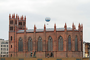 Rotes Rathaus, the town hall of Berlin, located in the Mitte district, Berlin, Germany, April 05, 2012.