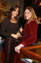 Left to right, ANOUK PUPER and SIMONE MEYER at a drinks party for the Game Conservancy Trust's committee held at Williams & Son, 10 Mount Street, London WlK hosted by Willaim & Lucy Asprey on 6th December 2005.<br /><br />NON EXCLUSIVE - WORLD RIGHTS