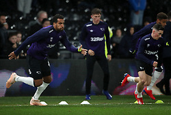 Derby County's Tom Huddlestone during the warm up during the Sky Bet Championship match at Pride Park, Derby.