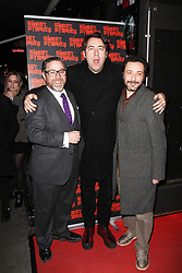 © Licensed to London News Pictures. 27/02/2014, UK. Jonathan Ross, Andy Nyman & Jeremy Dyson, Ghost Stories - Press Night, Arts Theatre, London UK, 27 February 2014. Photo credit : Brett D. Cove/Piqtured/LNP