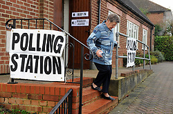 Voters turn up early on the day in the Rochester and Strood Parliamentary By-Election at Borstal Village Hall,Wouldham. The Rochester and Strood Parliamentary By-Election polling day, today (20.11.2014) in Kent. Byline:Grant Falvey/LNP
