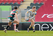 Wasps Fly-half Charlie Atkinson during a Gallagher Premiership Round 10 Rugby Union match, Friday, Feb. 20, 2021, in Leicester, United Kingdom. (Steve Flynn/Image of Sport)