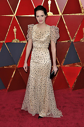 Phoebe Waller-Bridge walking on the red carpet during the 90th Academy Awards ceremony, presented by the Academy of Motion Picture Arts and Sciences, held at the Dolby Theatre in Hollywood, California on March 4, 2018. (Photo by Sthanlee Mirador/Sipa USA)
