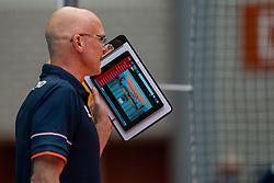 Coach Marko Klok of Netherlands in action during Brazil - Netherlands, FIVB U20 Women's World Championship on July 11, 2021 in Rotterdam