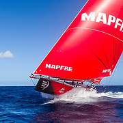 Leg 4, Melbourne to Hong Kong, day 14 on board MAPFRE, Drone Shot. Photo by Ugo Fonolla/Volvo Ocean Race. 15 January, 2018.