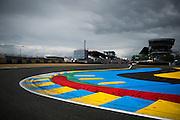 June 14-19, 2016: 24 hours of Le Mans. Le Mans circuit de la sarthe curb detail