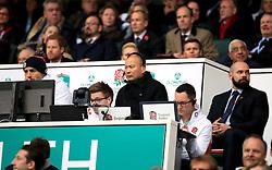 England's coach Eddie Jones during the Autumn International match at Twickenham Stadium, London.