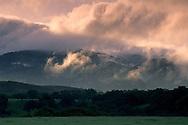 Clouds at sunrise over hills along Foxen Canyon Road, Santa Barbara County, California