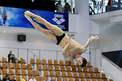 19.08.2014, Europa Sportpark, Berlin, GER, LEN, Schwimm EM 2014, Wasserspringen, 1m, Männer, Vorkampf, im Bild Constantin Blaha (Oesterreich) // during the men's 1m Diving preliminaries of the LEN 2014 European Swimming Championships at the Europa Sportpark in Berlin, Germany on 2014/08/19. EXPA Pictures © 2014, PhotoCredit: EXPA/ Eibner-Pressefoto/ Lau<br /> <br /> *****ATTENTION - OUT of GER*****