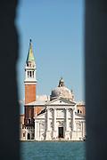 Church of San Giorgio Maggiore and the Canale della Diudecca on the island of San Giorgio Maggiore, Venice Italy, Europe