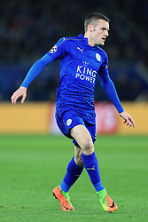 14th March 2017 - UEFA Champions League - Round of 16 (2nd Leg) - Leicester City v Sevilla - Jamie Vardy of Leicester - Photo: Simon Stacpoole / Offside.