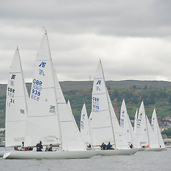 Day1 Etchells Start off Greenock with one design fleet. <br /> <br /> GBR 938,Etchells, Hammer of Ashton, RGYC<br /> GBR 1115, Etchells, Defiance, RGYC<br /> <br /> <br /> The Scottish Series, hosted by the Clyde Cruising Club is an annual series of races for sailing yachts held each spring. Normally held in Loch Fyne the event moved to three Clyde locations due to current restrictions. <br /> <br /> Light winds did not deter the racing taking place at East Patch, Inverkip and off Largs over the bank holiday weekend 28-30 May. <br /> <br /> Image Credit : Marc Turner / CCC