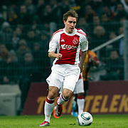 Ajax's Christian ERIKSEN during their Friendly soccer match Galatasaray between Ajax at the Turk Telekom Arena at Arslantepe in Istanbul Turkey on Saturday 15 January 2011. Turkish soccer team Galatasaray new stadium Turk Telekom Arena opening ceremony. Photo by TURKPIX