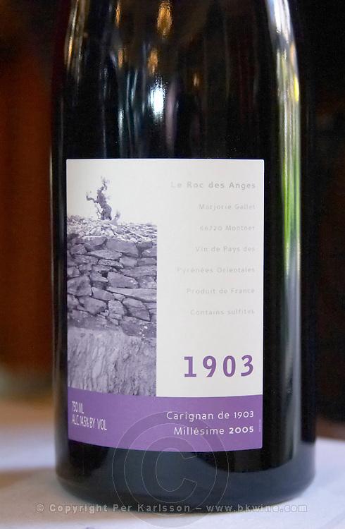 Carignan de 1903 vintage 2005. Domaine Le Roc des Anges, Montner, Roussillon, France