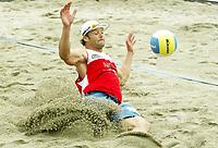 Volleyball, Sandvolleyball, World Tour Stavanger, Grand Slam, 02/07-05, <br />Ivar Horrem,<br />Foto: Halvard Hofsmo, Digitalsport