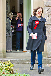 Pictured: Kezia Dugdale gets a warm welcome from a resident in Nile Grove<br /> <br /> Scottish Labour's Ian Murray and Scottish Labour leader Kezia Dugdale hit the general election campaign trail in Edinburgh today for the first campaign event of Mr Murray's re-election campaign for the Edinburgh South constituency.<br /> Ger Harley | EEm 21 April 2017