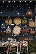 Merchandise on shop display outside store, Shirakawa-go, Japan