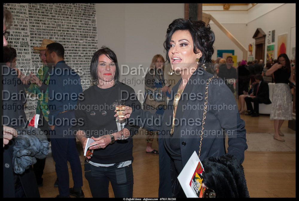 SUE WEBSTER; NANCY DELL D'OLIO, Royal Academy of Arts Summer Exhibition 2014. Piccadilly. London. 4 June 2014.