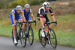 October 8, 2017 - Tours, France - TOURS, FRANCE - OCTOBER 8 : TERPSTRA Niki (NED) Rider of Quick-Step Floors Cycling team, TRENTIN Matteo (ITA) Rider of Quick-Step Floors Cycling team, KRAGH ANDERSEN Asbjorn (DEN) Rider of Delco Marseille Provence KTM during the 111th edition of the Paris-Tours cycling race with start in Brou and finish in Tours on October 08, 2017 in Tours, France, 8/10/2017 (Credit Image: © Panoramic via ZUMA Press)