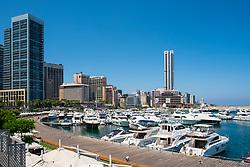 Modern new harbour and marina development at Zaitunay Bay in Beirut, Lebanon