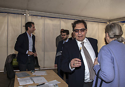 April 30, 2017 - Palermo, Italy - Rosario Crocetta, President of Sicily, during the Democratic Party's primary elections in Palermo. (Credit Image: © Antonio Melita/Pacific Press via ZUMA Wire)