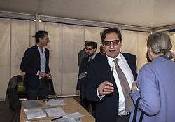 April 30, 2017 - Palermo, Italy - Rosario Crocetta, President of Sicily, during the Democratic Party's primary elections in Palermo. (Credit Image: © Antonio Melita/Pacific Press via ZUMA Wire)