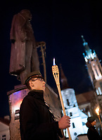 10.11.2013 Bialystok Marsz Niepodleglosci zorganizowany przez srodowiska katolickie i patriotyczno-niepodleglosciowe fot Michal Kosc / AGENCJA WSCHOD