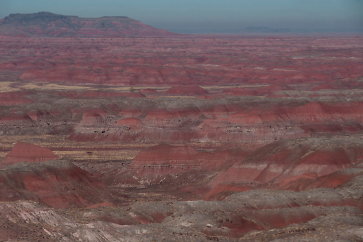 Painted Desert,  in the Petrified Forest National Park (Route 66)