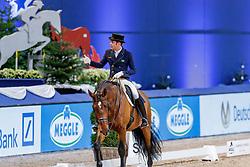 MARCARI OLIVA Joao Victor (BRA), Aron de Massa<br /> München - Munich Indoors 2019<br /> Preis der Liselott und Klaus Rheinberger Stiftung<br /> Grand Prix de Dressage (CDI4*) <br /> Wertungsprüfung MEGGLE Champion of Honour,<br /> Qualifikation für Grand Prix Special<br /> 22. November 2019<br /> © www.sportfotos-lafrentz.de/Stefan Lafrentz