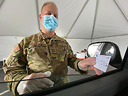 Pearl, MS 1/25/21  Covid Vaccines are being administered at the Trustmark Ball Park by the Mississippi National Guard. The hotline to register for a vaccine has been opened up to people with underlying conditions and 65 and older. Mississippi has had issues with administering the vaccine and getting folks to wear masks. The Pfizer covid-19 vaccine is a 2 dose vaccination, the second dose is to be administered 3 weeks after the first dose. Photo © Suzi Altman Covid Vaccine