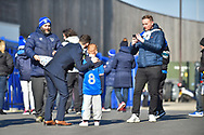 Portsmouth Forward, Conor Chaplin (19) has a photo selfie taken with a fan during the EFL Sky Bet League 1 match between Portsmouth and Blackpool at Fratton Park, Portsmouth, England on 24 February 2018. Picture by Adam Rivers.