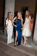 MARIA DYKALO-BURTON; LANA HOLLOWAY; FERN CHAVELL, The Goodwood Ball. In aid of Gt. Ormond St. hospital. Goodwood House. 27 July 2011. <br /> <br />  , -DO NOT ARCHIVE-© Copyright Photograph by Dafydd Jones. 248 Clapham Rd. London SW9 0PZ. Tel 0207 820 0771. www.dafjones.com.