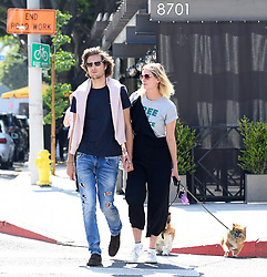 EXCLUSIVE: Loved up new couple Mischa Barton steps out with her boyfriend and her two dogs after a romantic caviar & champagne lunch at Petrossian Paris in West Hollywood. 02 Jun 2017 Pictured: Mischa Barton. Photo credit: MEGA TheMegaAgency.com +1 888 505 6342