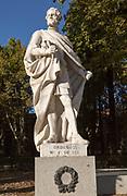 Statues of Spanish monarchs, Plaza de Oriente, Madrid, Spain King Ordono II