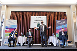 © Licensed to London News Pictures . 16/02/2017. Stoke-on-Trent, UK. PATRICK O'FLYNN speaks . Hustings in Stoke-on-Trent Central by-election at the Quality Hotel in Stoke , for local businesses with Lib Dem candidate Dr Zulfiqar Ali, Conservative candidate Jack Brereton,  Labour candidate Gareth Snell and, in place of UKIP candidate Paul Nuttall who didn't turn up , Patrick O'Flynn . Photo credit: Joel Goodman/LNP