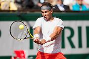 Paris, France. Roland Garros. June 1st 2013.<br /> Spanish player Rafael NADAL against Fabio FOGNINI