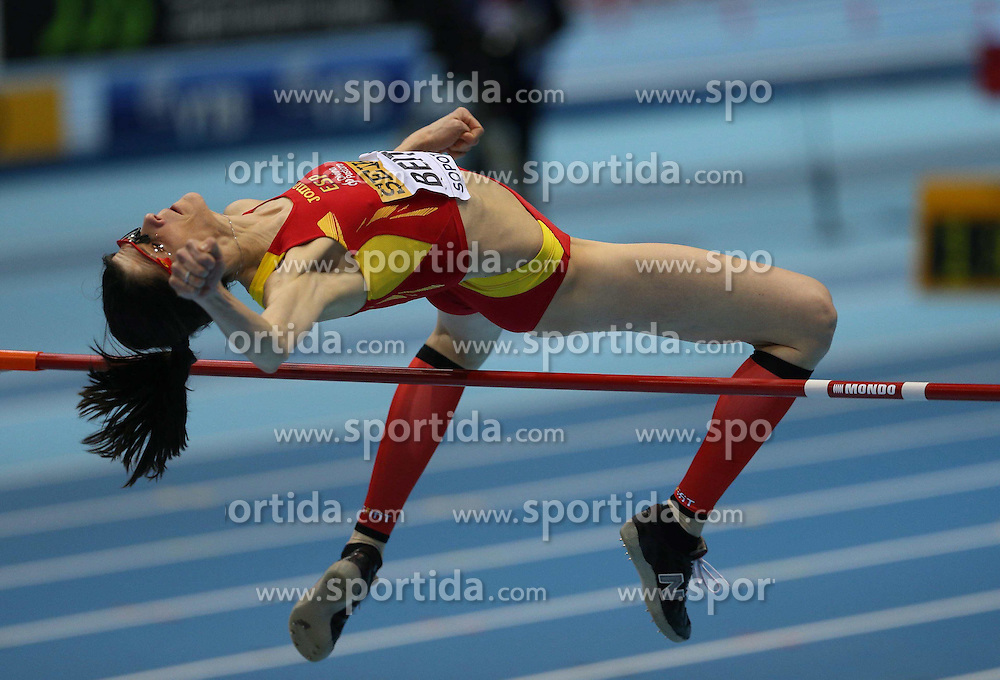 07.03.2014, Ergo Arena, Sopot, POL, IAAF, Leichtathletik Indoor WM, Sopot 2014, Tag 1, im Bild Ruth Beitia (Spain) competite during the high jump // Ruth Beitia (Spain) competite during the high jump during day one of IAAF World Indoor Championships Sopot 2014 at the Ergo Arena in Sopot, Poland on 2014/03/07. EXPA Pictures © 2014, PhotoCredit: EXPA/ Newspix/ Michal Fludra<br /> <br /> *****ATTENTION - for AUT, SLO, CRO, SRB, BIH, MAZ, TUR, SUI, SWE only*****
