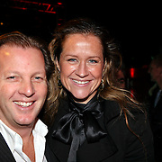 NLD/Blaricum/20081109 - Benefietavond de Frogers voor de Voedselbank, Michiel Mol en partner Paulien Huizinga