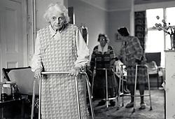 Residential old age care, Nottingham 1986, UK
